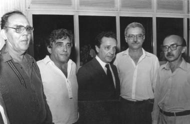 Silvio Mendes com o empresário Diran Amaral (falecido), ex-governador Geraldo Melo, ex-deputado Laire Rosado e o jornalista Dorian Jorge (falecido). foto: internet