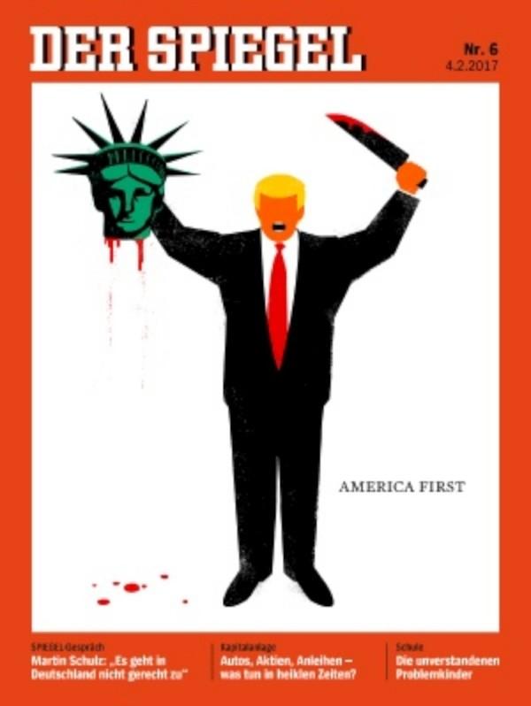 Der Spiegel tem Donald Trump na capa, decapitando a Estátua da Liberdade